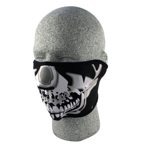 NEOPRENE 1/2 FACE MASK, CHROMESKULL, Manufacturer: BALBOA, Manufacturer Part Number: WNFM023H-AD, Stock Photo - Actual parts may ()