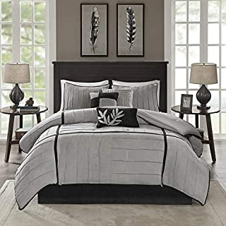 Madison Park Connell 7 Piece Comforter Set Color: Grey, Size: King (B004WA8E4I) | Amazon price tracker / tracking, Amazon price history charts, Amazon price watches, Amazon price drop alerts