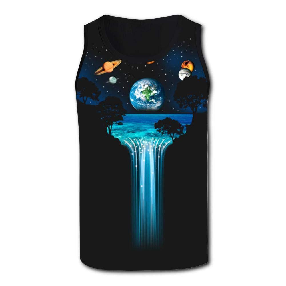 Gjghsj2 Solar Falls Mens Tank Top Vest Shirts Singlet T Shirt Sleeveless Underwaist for Yoga
