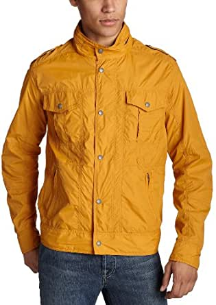 Levis Mens Nylon Hidden Hood Jacket,Sherbert,Small