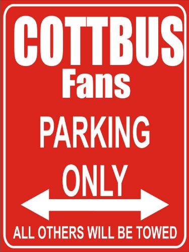 Garage//Carport Parking Only Folienbeschriftung Cottbus Parkplatzschild 32x24 cm rot//wei/ß INDIGOS UG Alu-Dibond