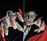 WOWindow Posters Vince The Vampire Scary Halloween Window Decoration, Includes Two 3 by 5-Inch Posters