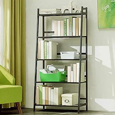 Bambú Repisa escalera Estantería de bambú,Montaje fácil Librería anaquel Estantes de madera abiertos Espesado Estante del almacenaje Multifuncional Para hogar u oficina-I 70x35x147cm(28x14x58inch): Amazon.es: Hogar