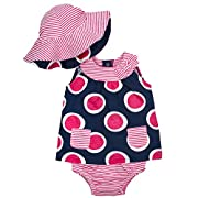Gerber Toddler Girls' 3 Piece Dress Set, Circles, 3T