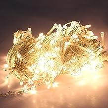 LEMONBEST Warm white 200 Led Light String Christmas Party Stage Wedding Fairy Lighting Show Rope lights 65.6ft