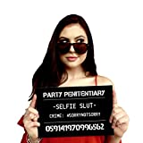 Shamelessly Hilarious Party Mugshot Signs – Funny Photo Booth Props for Girls Night Out, Bachelorette Party, Birthday Party – 20 Count
