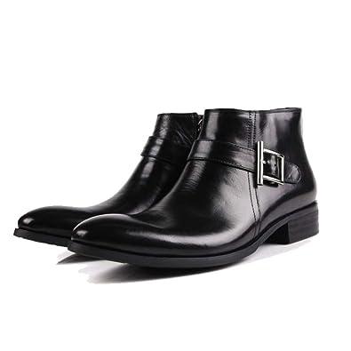 3b48dcfa5307ca NIUMT Bottes De Style Bottes De Travail De Style Britannique Chaussures  Montantes élégantes Et Confortables,