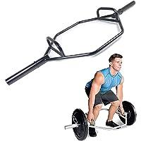 Zeshoekige Halterstang voor Gewichtheffen, Zwarte Holle Schouderophaalstang Harde Trekstang, Circulaire Squat…