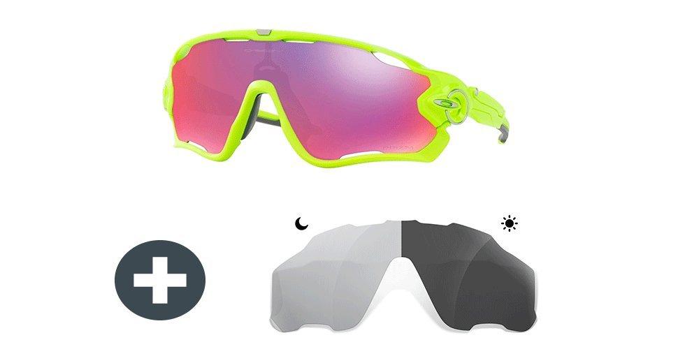 47f0f3050e Pack Oakley Jawbreaker Retina Burn - Prizm Road Lenses - Extra Sunglasses  Restorer Photochromic Grey Lenses  Amazon.co.uk  Sports   Outdoors