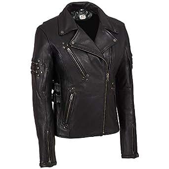 ST Stylish Leather Biker Jacket Women Racer Fashion Moto