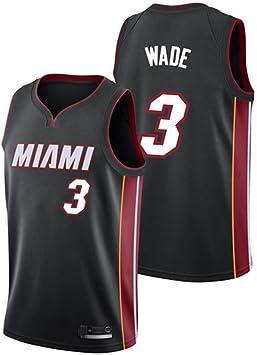 Hombre Mujer Ropa de Baloncesto NBA Miami Heat 3# Wade Jersey ...