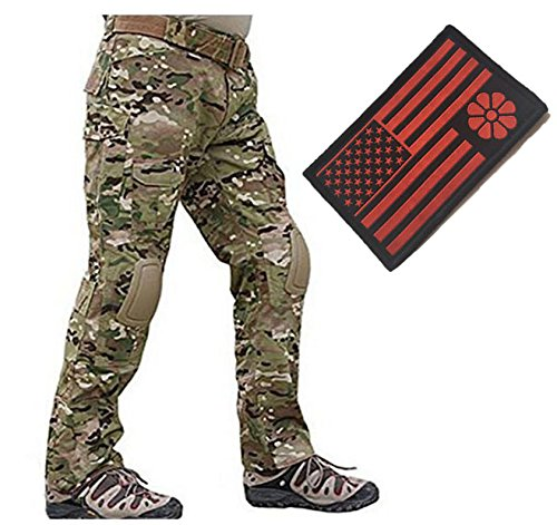 Eternal Heart Men BDU Pants Gen2 Tactical Pants With Knee Pads Camping Hiking Multicam MC (XXL) (Eternal Rest Heart)