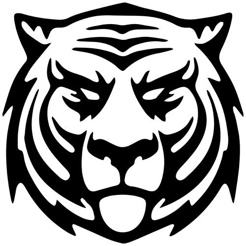 (Thunder Cat Tiger Decal Sticker (Black, Mirrored), Decal Sticker Vinyl Car Home Truck Window Laptop)