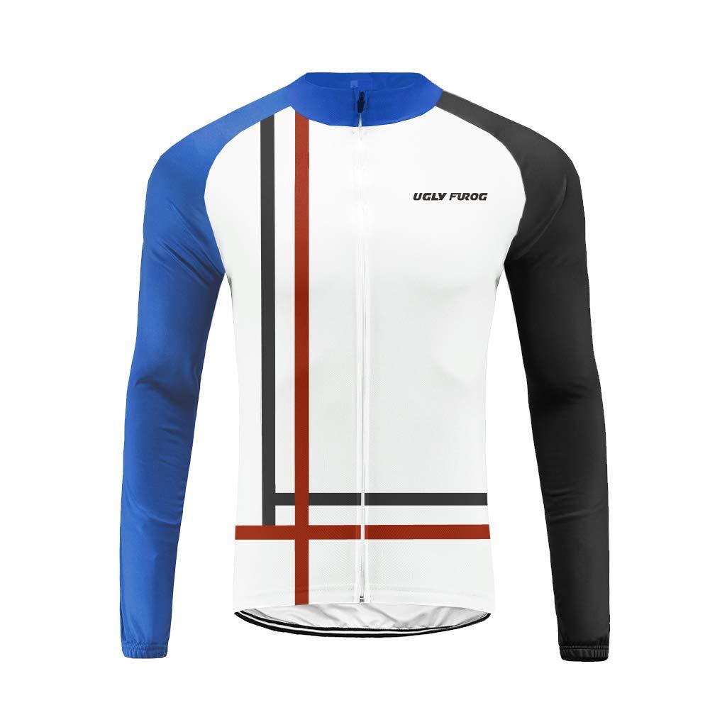 Uglyfrog Herren Fahrradtrikot,Outdoor Männer MTB Langarm Radsport Radtrikot Jersey/Fahrradbekleidung/Lange Hose Sets