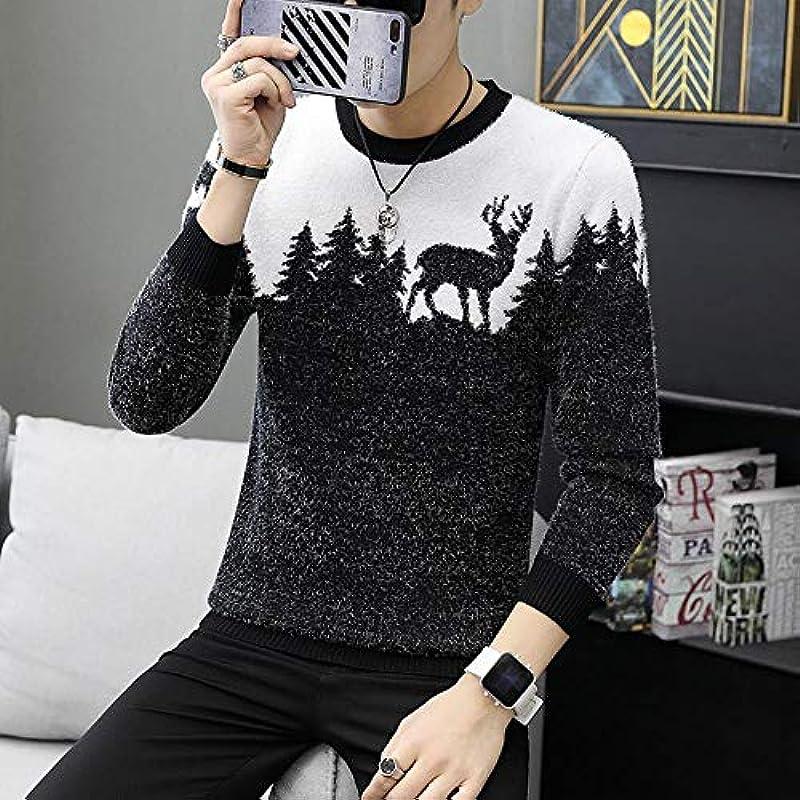 WXG Fall Sweater Männer Casual Strickpullover, 6618, L: Odzież