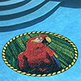 Floating Pong Parrot Head Pool Mat, Pool Art, 29 Inches, Vinyl, Works in Any Pool