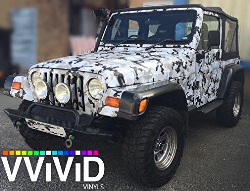 Vvivid Snow Camouflage Vinyl Car Wrap Adhesive Decal Diy