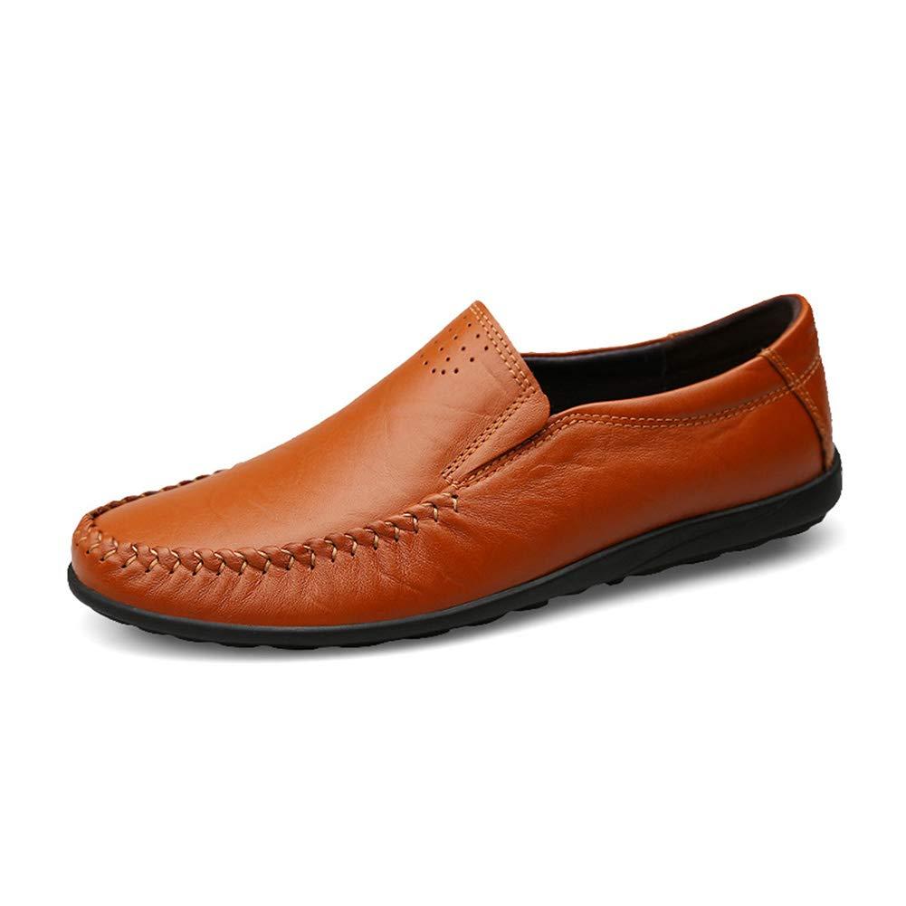GYYFC Herren Rutschfest Lässige Schuhe Schuhe Schuhe britischer Stil Atmungsaktiv Handgemachte Schuhe Niedrige Hilfe Ärmel Schuhe fahren Gemütlich Weiche Schuhe  6e6457