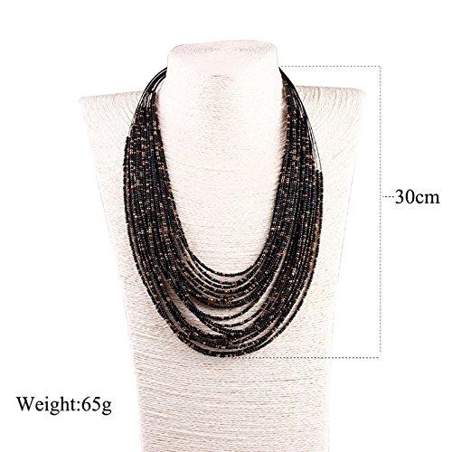 f48e1056b98e Envio gratis AnazoZ Collar Aleación Mujer Collar Mujer Bohemia Collar de  Mujer Collar Multicapas Collar Rojo