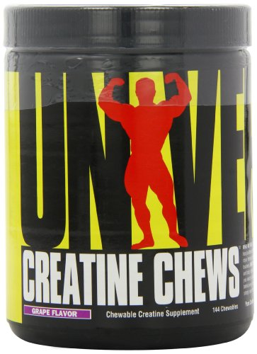 Universal Nutrition 100% Pure Creapure Creatine Monohydrate Chews Grape 144 Count ()