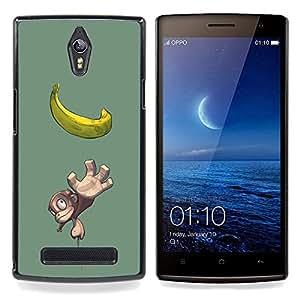 """Planetar ( Plátano Mono Mono Amarillo Dibujo Fruta"""" ) OPPO Find 7 X9077 X9007 Fundas Cover Cubre Hard Case Cover"""