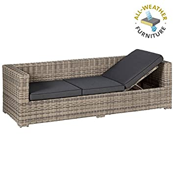 Amazon De Exotan Rimini Lounge Sofa Bank 3 Sitzer Mit