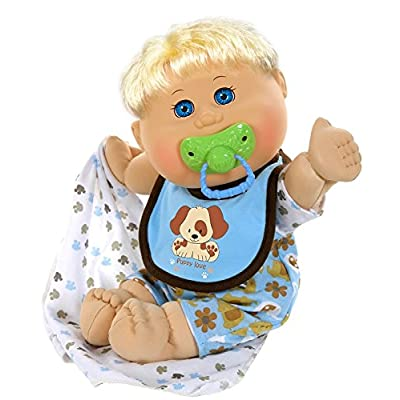 "Cabbage Patch Kids 12.5"" Naptime Babies - Blonde Hair/Blue Eye Boy Baby Doll (Dog Jumper Fashion): Toys & Games"