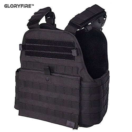 GLORYFIRE Tactical Vest Modular Assault Vest Law Enforcement Vest Breathable Combat Training Vest Adjustable Lightweight (B1)