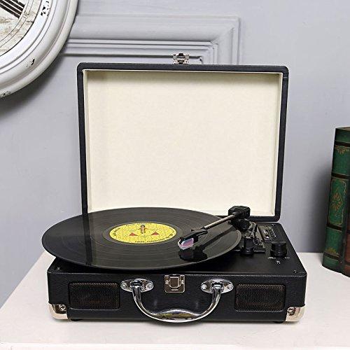 1. vinilo de tocadiscos Bluetooth de tocadiscos con altavoces ...