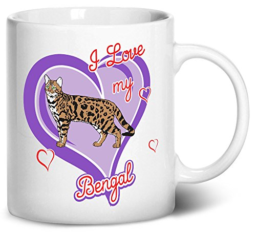 Tenacitee Bengal Cat Coffee Mug, 11oz, White