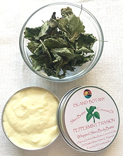 Peppermint Passion Whipped Shea Body Butter. Fair trade, organic, raw, unrefined, unbleached, golden Shea Butter. Soothes, Heals, nourishes, protects, soften, hydrate irritated skin & dermatitis 2 ozs (Passion Fruit Shea Body Butter)