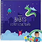Memory Book Of The First Five Years Of Your Baby Boy - Keep Close All Of The First Memories Of Your Children In A Hard Cover Photo Album And Make The Perfect Keepsake For Mom Or Dad