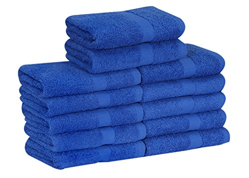 GOLD TEXTILES Cotton Salon Towels (12-Pack,Royal Blue,16x27 inches) - Soft Absorbent Quick Dry Gym-Salon-Spa Hand Towel (Royal Blue)