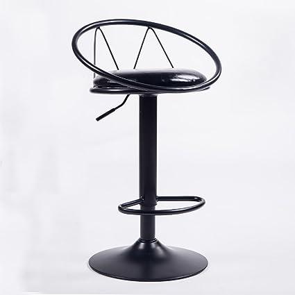 Marvelous Amazon Com Alus Black Modern Adjustable Height Bar Stools Machost Co Dining Chair Design Ideas Machostcouk