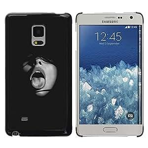 """Pulsar Snap-on Series Teléfono Carcasa Funda Case Caso para Samsung Galaxy Mega 5.8 , Chica Negro Lengua Boca Moda Sexy"""""""
