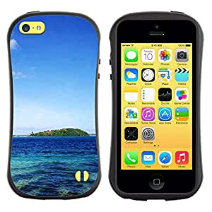 "Hypernova Slim Fit Dual Barniz Protector Caso Case Funda Para Apple iPhone 5C [Naturaleza Paradise Island""]"