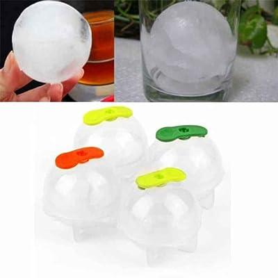 GOTTING 4 PCS Parti Bar En Plastique Mignon Glaçon Cube Ball Plateau Rond Maker Sphère Moule Moule (couleur aléatoire)