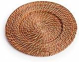Koyal Wholesale Rattan Charger Plates (4-Pack Honey Brown)  sc 1 st  Amazon.com & Amazon.com | 6 Pack Bamboo \u0026 Rattan 14\
