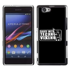 CaseLord Carcasa Funda Case - Sony Xperia Z1 Compact / Funny Viking Dance /
