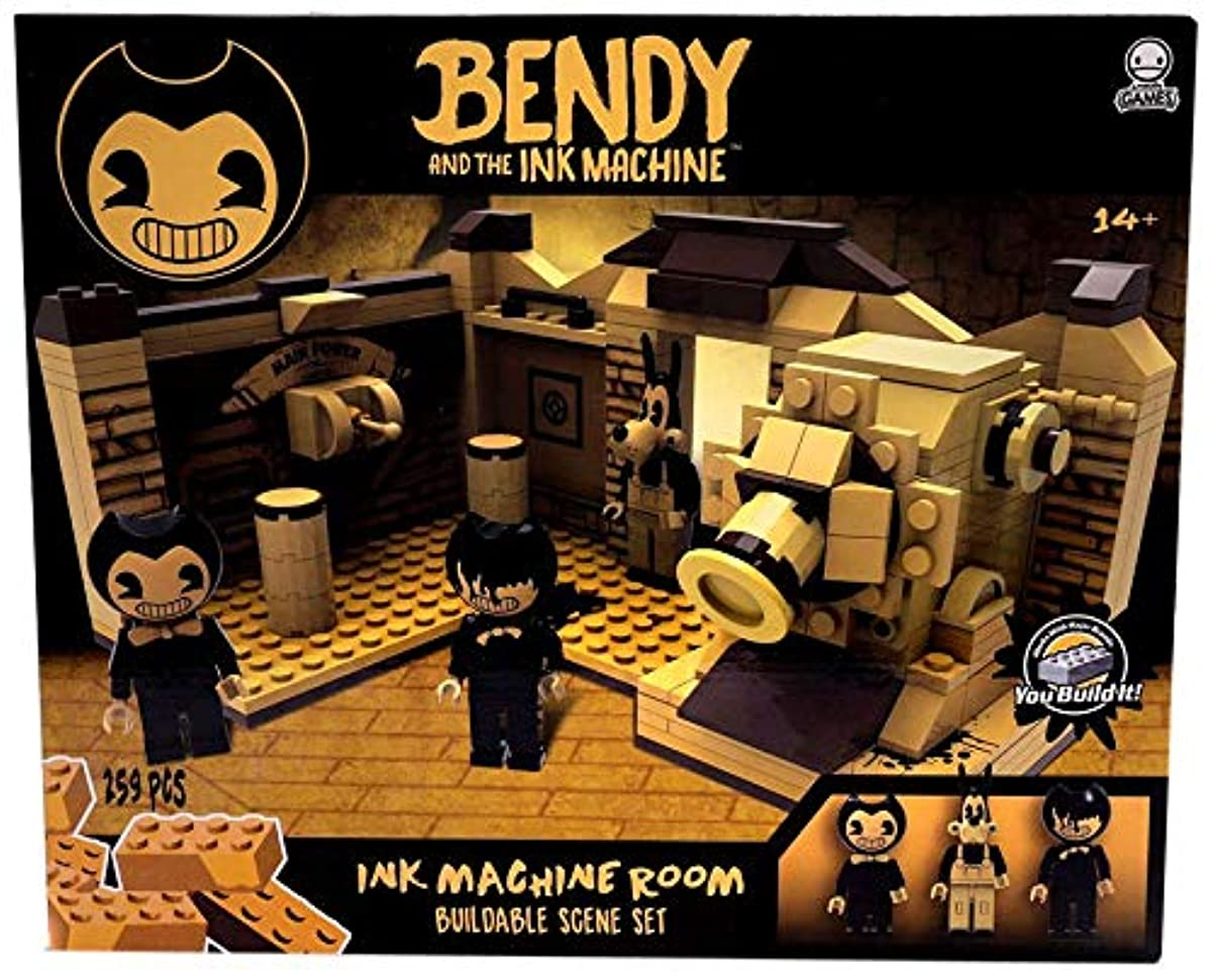 Bendy And The Ink Machine Buildable Scene Set Lego Room 265 Pieces