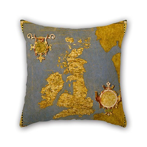 Cushion Covers Of Oil Painting Egnazio Danti - Great Bretain And Ireland For Play Room Bedroom Couch Sofa Girls Dance Room 16 X 16 Inches / 40 By 40 Cm(2 Sides) ALovjp