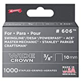 Arrow Fastener 606 Wide Crown Swingline Heavy Duty 3/8-Inch Staples, 1,000-Pack
