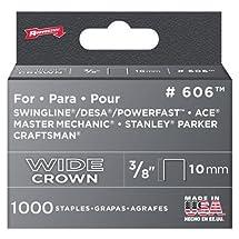 Arrow Fastener 606 Wide Crown Swingline Heavy Duty 3/8-Inch Staples, 1,000-Pack