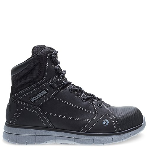 - Wolverine Men's Rigger WPF Composite-Toe Mid Wedge Construction Boot, Black, 9 M US