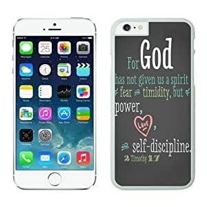 Iphone 6 Case 4.7 Inches, Personalized White Hard Phone Cover Case for Apple Iphone 6 Bible Quote
