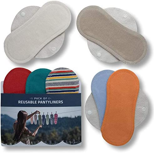 Salvaslips de tela reutilizables, 7-Pack