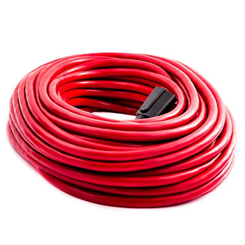 Otimo 100 ft 12/3 Outdoor Extra Heavy Duty Extension Cord - Professional Series - 3 Prong Extension Cord, Red by Otimo (Image #1)