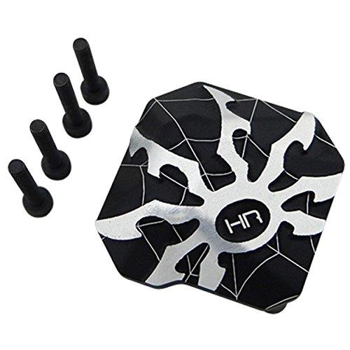 Hot Racing SCXT12CP01 Aluminum Ar44 Axle Diff Spider Covers (Black) - Axial Scx