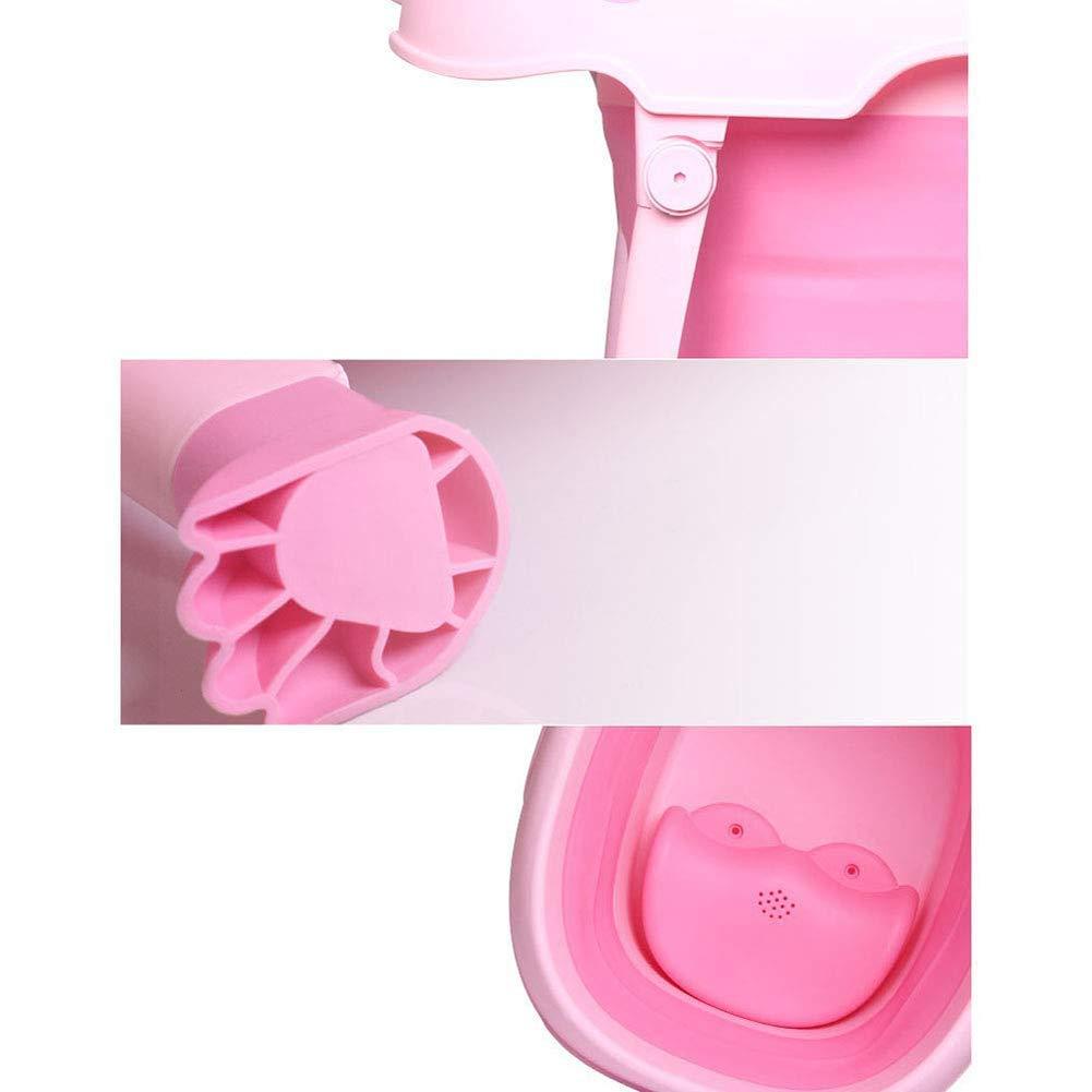 Children Safe Portable Foldable Bathtub, 29x21inch - Baby Bath Tub Kids Bath Tub Can Sit Lying Bath Tub for 6 Months to 10 Years Old Children (Pink) by Finebaby (Image #7)
