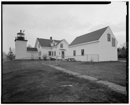 HistoricalFindings Photo: Fort Point Light Station,Cape Jellison,Stockton Springs,Waldo County,Maine,ME,3 -